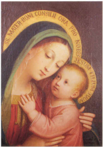 Mary and Child, also called Madonna of the Good Counsel, Picture in Assisi, Franciscan Convent