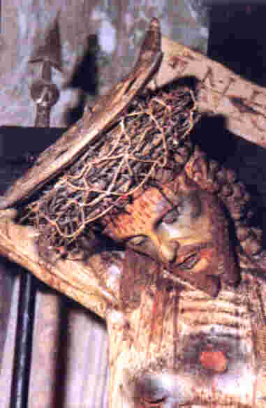 Crucifix, located in Miglionico, Italy, a sample of true Franciscan devotion to Jesus' Passion